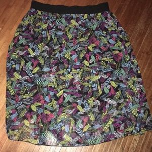 Xl feather Lularoe Lola skirt